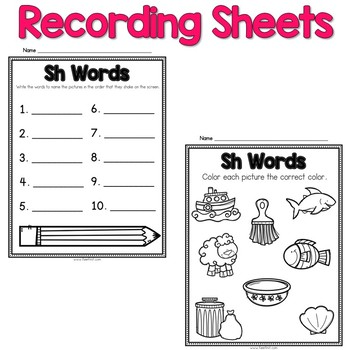 Digital Phonics Word Work - R Blends
