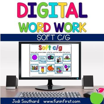 Digital Phonics Word Work - Soft c/g