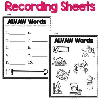 Digital Phonics Word Work - ew/oo