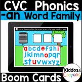 Digital Phonics -an Word Family Short a CVC Words Boom Cards