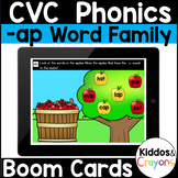 Digital Phonics -ap Word Family Short a CVC Words Boom Cards - Distance Learning
