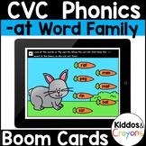 Digital Phonics -at Word Family Short A CVC Words Boom Cards