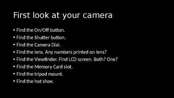 Digital Photography - Getting Started