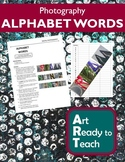 Digital Photography Lesson - ALPHABET WORDS - Directions &