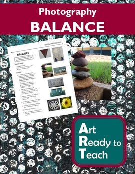 Digital Photography Lesson - BALANCE - Directions & Samples