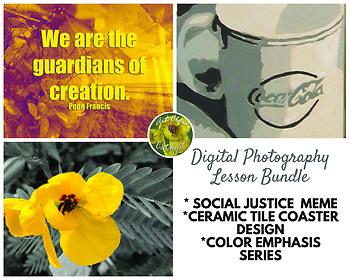 *BUNDLE* 3 Digital Photography Projects (Meme, Coaster Design, Color Emphasis)
