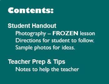 Digital Photography Lesson - FROZEN Studio Setup - Directions & Samples