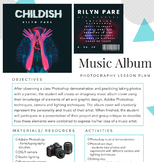 Digital Photography Lesson Plan - Music Album Cover (Photo