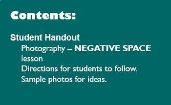 Digital Photography Lesson - NEGATIVE SPACE - Directions & Samples