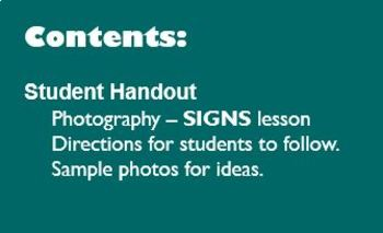 Digital Photography Lesson - SIGNS - Directions & Samples