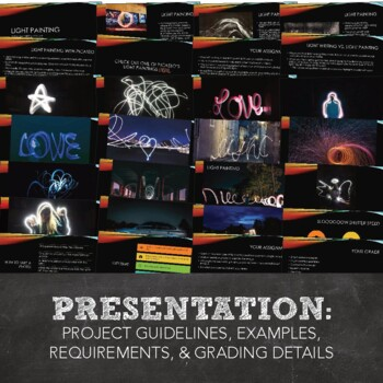 Digital Photography: Light Painting and Light Writing Project for MS or HS Art