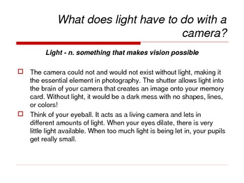 Digital Photography - Light: The Essential Element