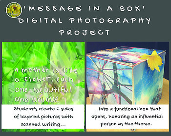 Digital Photography and Art Project- Message in a Box  (3-dimensional)