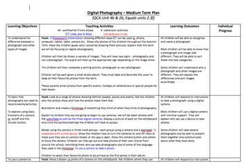 Digital Photography Unit Planner
