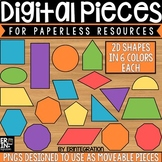 Digital Pieces for Digital Resources: 2 Dimensional Shapes