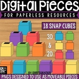 Digital Pieces for Digital Resources: 2D and 3D Snap Cube Images