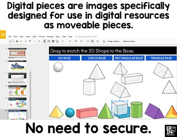Digital Pieces for Digital Resources: 3 Dimensional Shapes (56 Pieces)