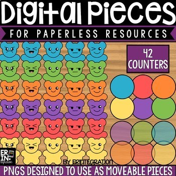 Digital Pieces for Digital Resources: 42 Counter Images