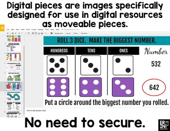 Digital Pieces for Digital Resources: 42 Dice Images