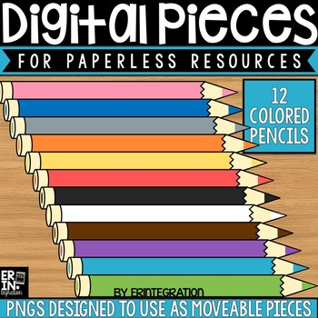 Digital Pieces for Digital Resources: Colored Pencils