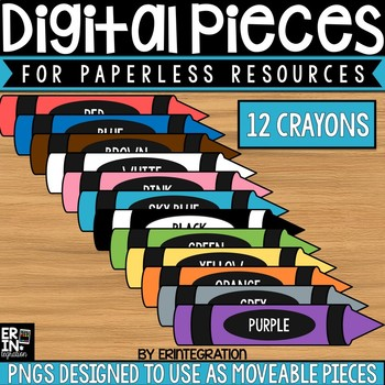 Digital Pieces for Digital Resources: Crayons