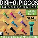 Digital Pieces for Digital Resources: Flashlights (10 Pieces)