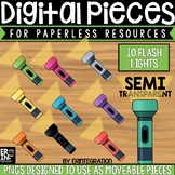 Digital Pieces for Digital Resources: Flashlights (10 Pieces)