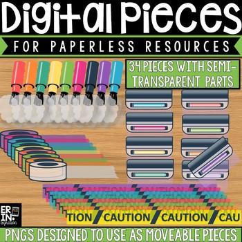 Digital Pieces for Digital Resources: Investigation Tools (34 Pieces)
