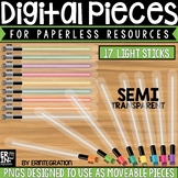Digital Pieces for Digital Resources: Light Sticks (17 Pieces)