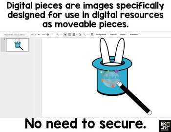 Digital Pieces for Digital Resources: Magic Wands and Magician Hats (22 Pieces)