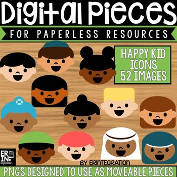 Digital Pieces for Digital Resources: Multicultural Kid Icons