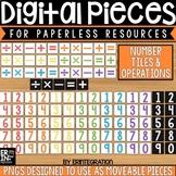 Digital Pieces for Digital Resources: Number Tiles (105 Pieces)