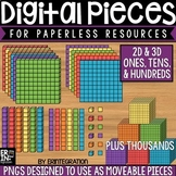 Digital Pieces for Digital Resources: Ones, Tens, Hundreds, Thousands Images