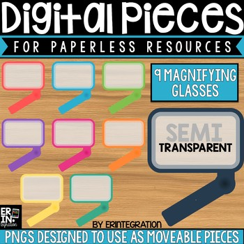 Digital Pieces for Digital Resources: Rectangle Magnifying Glasses