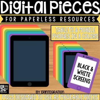 Digital Pieces for Digital Resources: Tablets & Mobile Phones (32 Pieces)