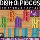 Digital Pieces for Digital Resources: Tally Mark Stick Images