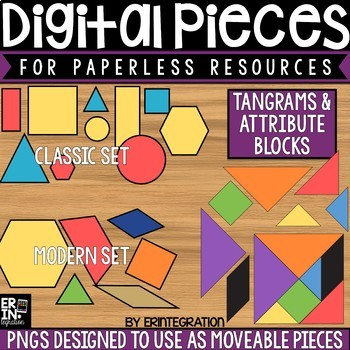 Digital Pieces for Digital Resources: Tangram and Attribute Shape Images