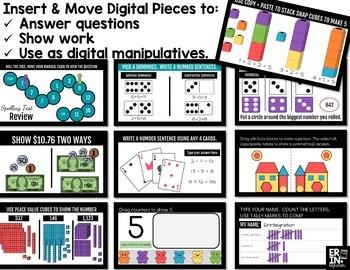 Digital Pieces for Digital Resources: Math BUNDLE
