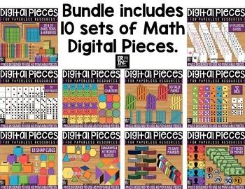 Digital Pieces for Digital Resources: MATH BUNDLE 1