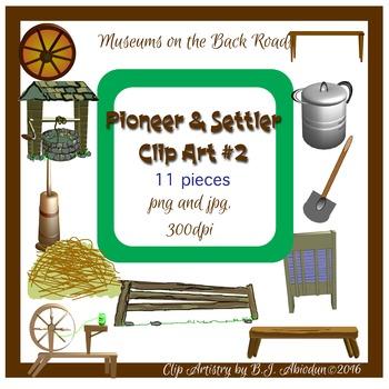 Digital Pioneer Clipart Pack #2