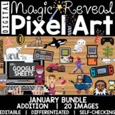 Digital Pixel Art Magic Reveal JANUARY BUNDLE: ADDITION &