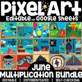 Digital Pixel Art Magic Reveal JUNE BUNDLE: MULTIPLICATION