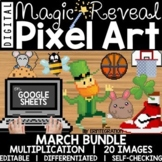 Google Sheets Digital Pixel Art Magic Reveal MARCH BUNDLE: