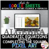 Digital Pixel Art Math Solving Quadratic Equations by Comp