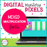 Digital Mystery Pixel Picture Multiplication Distance Learning