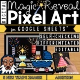 Digital Pixel Art New Year's Magic Reveal Mystery ADDITION & SUBTRACTION