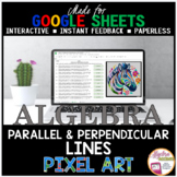 Digital Pixel Art Writing Linear Equations of Parallel and