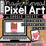 Valentines Day Digital Pixel Art Magic Reveal ADDITION & SUBTRACTION