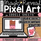 Valentines Day Digital Pixel Art Magic Reveal ADDITION & S