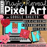 Google Sheets Valentine's Day Digital Pixel Art Magic Reveal MULTIPLICATION
